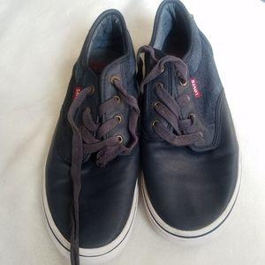 Levi Strauss Sneakers Blue Denim Leather Trim kids